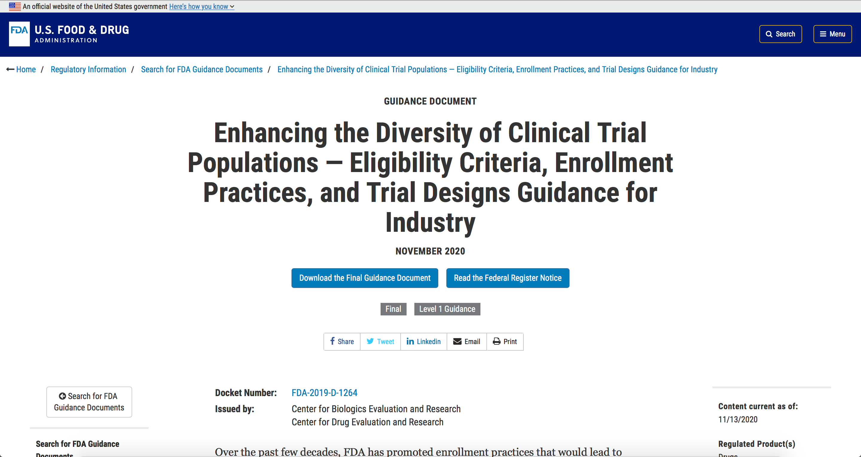 Enhancing Diversity of Clinical Trial Populations Image