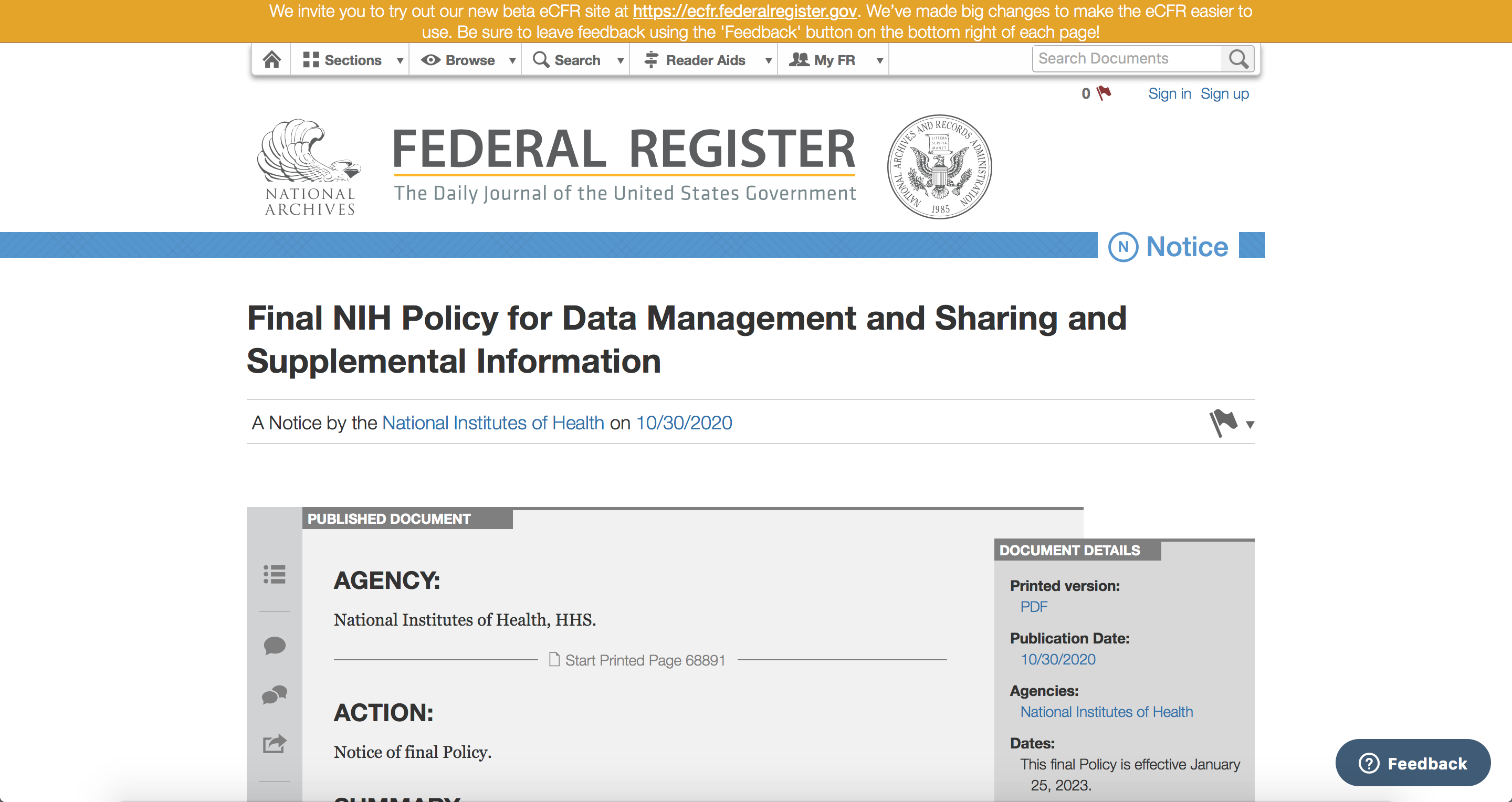 NIH Data Management image
