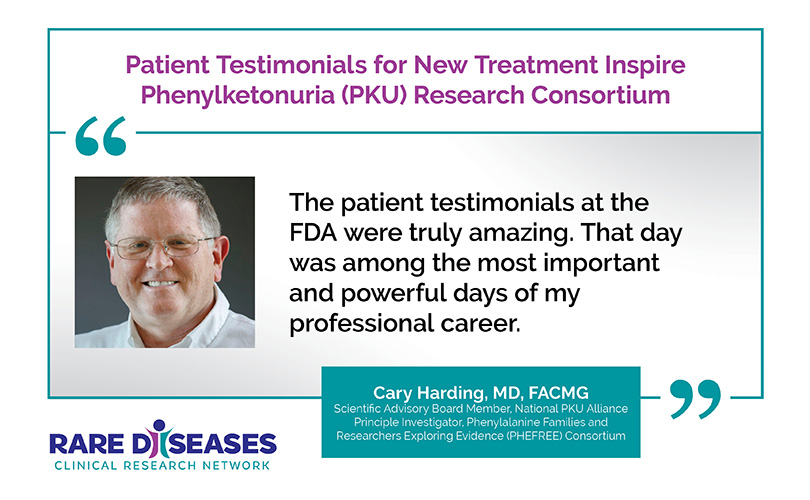 Patient Testimonials for New Treatment Inspire Phenylketonuria (PKU) Research Consortium