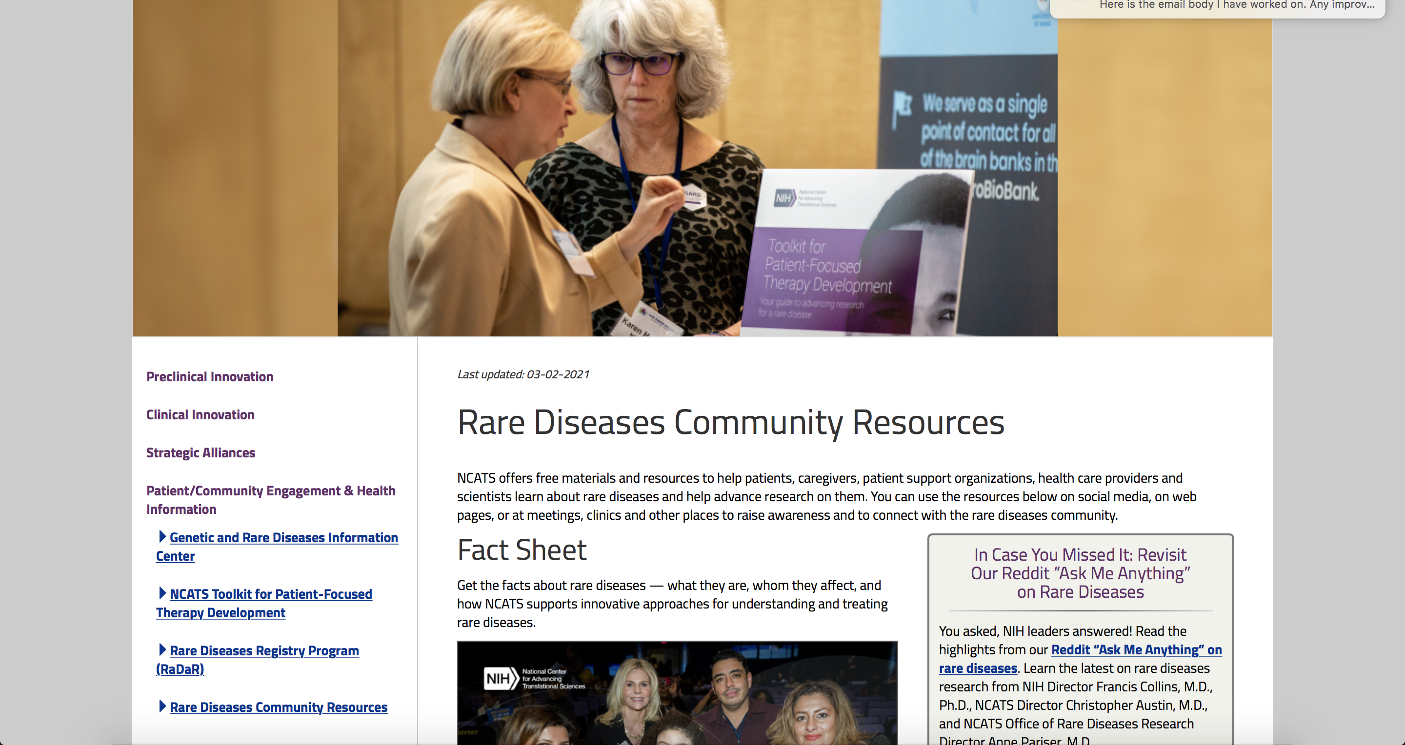 Rare Diseases Community Resources image
