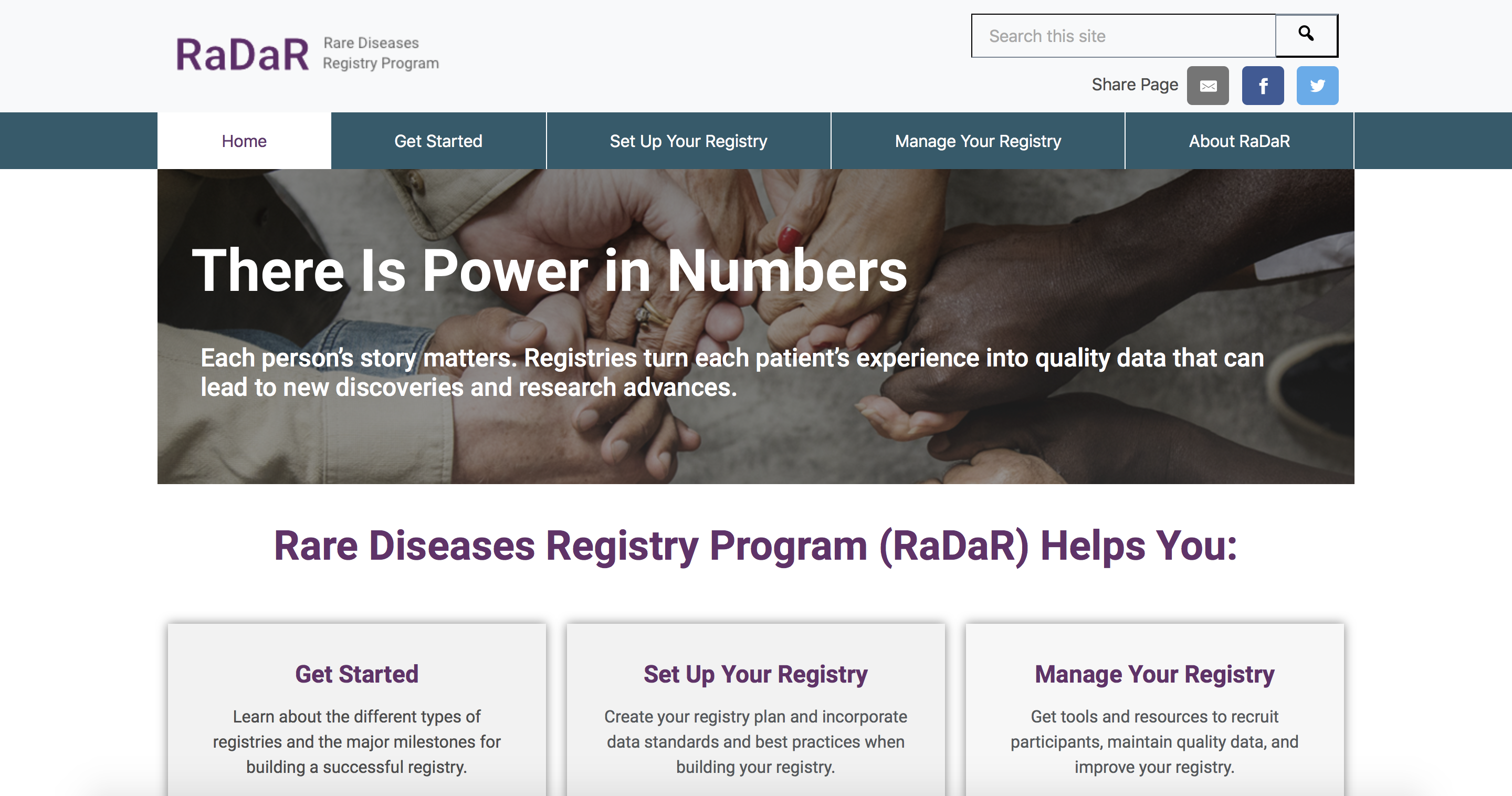 Rare Diseases Registry Program image
